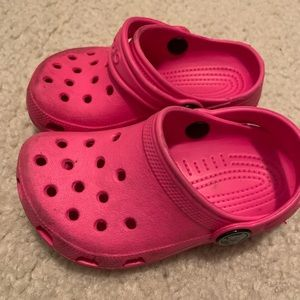 Pink Toddler Crocs